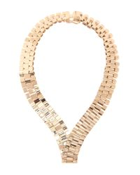 Lanvin   Metallic Metal Necklace   Lyst