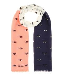 KENZO - Multicolor Printed Silk-blend Scarf - Lyst