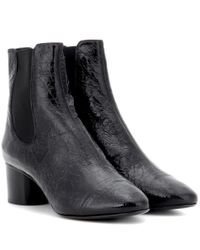 Isabel Marant | Black Danae Patent Leather Ankle Boots | Lyst