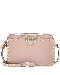 Valentino   Pink Garavani Rockstud Shoulder Bag   Lyst