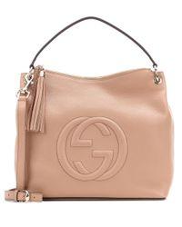 Gucci | Natural Soho Leather Shoulder Bag | Lyst