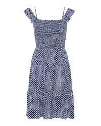 Tory Burch | Blue Cabarita Smocked Dress | Lyst
