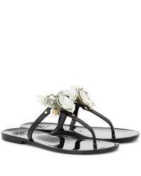 Tory Burch   Multicolor Blossom Jelly Embellished Sandals   Lyst