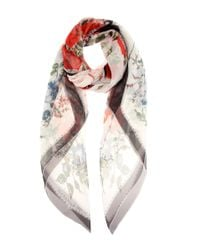 Alexander McQueen | Multicolor Patterned Silk Scarf | Lyst