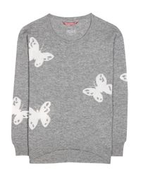 81hours | Gray Irene Butterfly Wool And Cashmere Sweater | Lyst