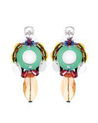 Miu Miu | Multicolor Embellished Clip-on Earrings | Lyst