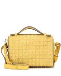 Tod's | Yellow Micro Bowler Suede Shoulder Bag | Lyst