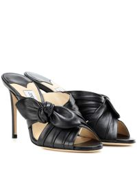 Jimmy Choo | Black Keely 100 Leather Sandals | Lyst