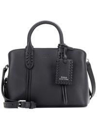 Polo Ralph Lauren | Black Mini Satchel Leather Shoulder Bag | Lyst