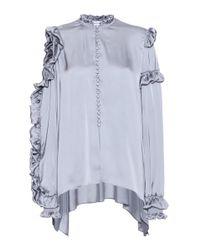 Magda Butrym | Blue Lecce Silk Blouse | Lyst