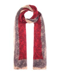 Valentino | Red Printed Silk Scarf | Lyst