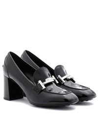 Tod's | Black Loafer-style Leather Pumps | Lyst