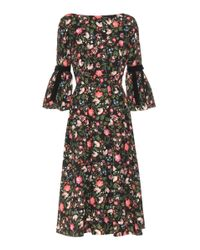 d998b9391b6 Lyst - Erdem Woman Aleena Grosgrain-trimmed Matelassé Dress Black in ...