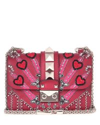 Valentino - Red Garavani Lock Mini Loveblade Shoulder Bag - Lyst