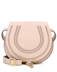 Chloé | Pink Marcie Small Leather Shoulder Bag | Lyst