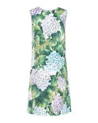 Dolce & Gabbana - Green Jacquard Sheath Dress - Lyst