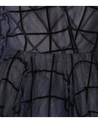 Oscar de la Renta - Black Grid-textured Gown - Lyst