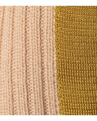 Chloé - Natural Ribbed Wool Turtleneck Sweater - Lyst