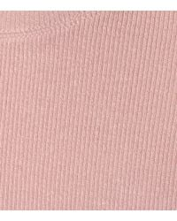 ATM - Pink Ribbed Jersey T-shirt - Lyst