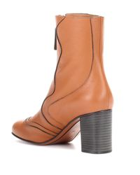 Chloé - Brown Exclusive To Mytheresa.com – Leather Ankle Boots - Lyst