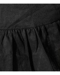 Robe Telicia en lin Étoile Isabel Marant en coloris Black