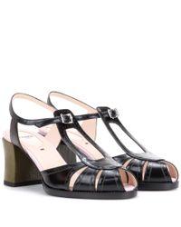 Fendi - Black Leather Sandals - Lyst