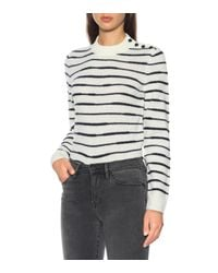 FRAME - Gray Le High Skinny Jeans - Lyst