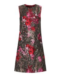 Dolce & Gabbana - Metallic Sleeveless Jacquard Dress - Lyst