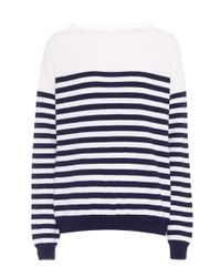 MiH Jeans - Blue Striped Merino Wool Sweater - Lyst