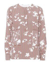 Altuzarra - Red Carnegie Striped Silk Top - Lyst