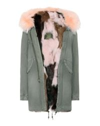 Mr & Mrs Italy - Green Fur-lined Cotton Parka - Lyst