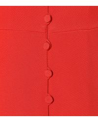 Valentino - Red Silk Playsuit - Lyst