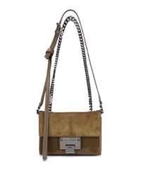 Jimmy Choo - Green Rebel Soft Mini Suede Shoulder Bag - Lyst