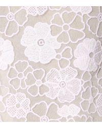 Giamba - White Embroidered Midi Skirt - Lyst