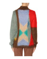 Chloé - Red Mohair And Wool-blend Sweater - Lyst