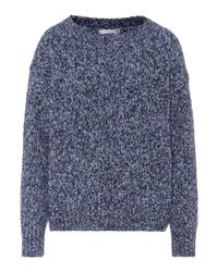 Vince - Blue Wool, Cashmere And Silk Sweater - Lyst