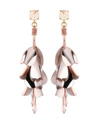 Oscar de la Renta - Metallic Beaded Earrings - Lyst