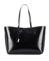 Saint Laurent - Black Patent Leather Shopper - Lyst