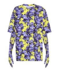 Balenciaga - Purple Oversized T-shirt With Gloves - Lyst
