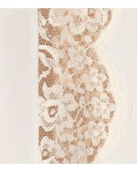 Stella McCartney - White Lace-trimmed Silk Slip Dress - Lyst