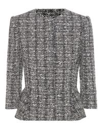 Alexander McQueen - Gray Knitted Cotton And Wool-blend Jacket - Lyst