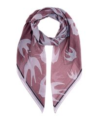 McQ Alexander McQueen - Purple Swallow-printed Scarf - Lyst