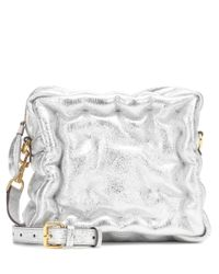 Anya Hindmarch - Metallic Chubby Cube Leather Crossbody Bag - Lyst