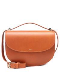 A.P.C. - Brown Genève Leather Shoulder Bag - Lyst