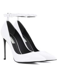 Balenciaga - White Embellished Patent Leather Pumps - Lyst