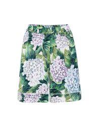 Dolce & Gabbana - Green Silk Printed Shorts - Lyst