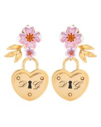 Dolce & Gabbana - Metallic Locket Clip-on Earrings - Lyst