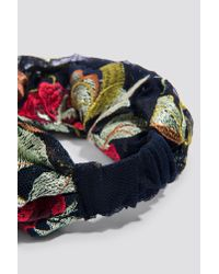 Mango - Blue Flower Hairband - Lyst