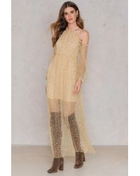 Passion Fusion Natural Sequin Maxi Dress Champagne