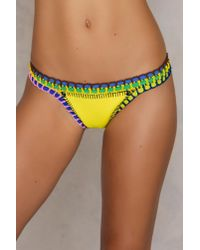 Hot Anatomy - Neoprene Multicolor Crochet Pantie - Lyst